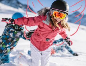 masque et lunettes de ski, snow